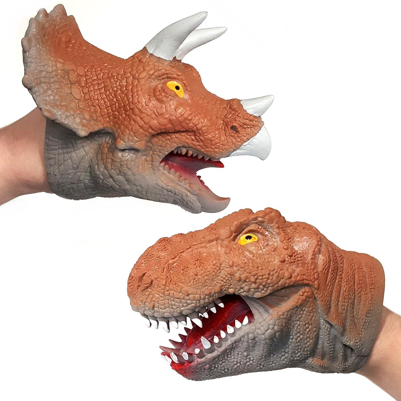 ARK Rubber Dinosaur Hand Puppet - Assorted Design - One Supplied