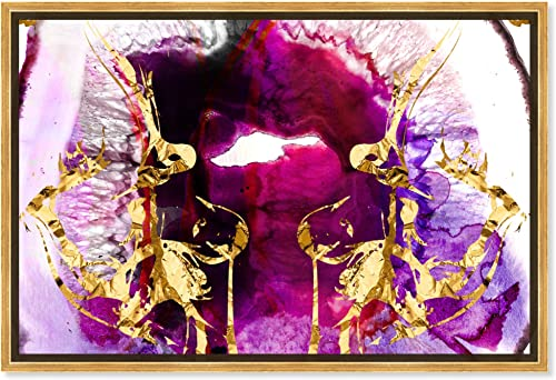 The Oliver Gal Artist Co. Abstract Framed Wall Art Canvas Prints 'Smoking Agate' Paint Home D cor