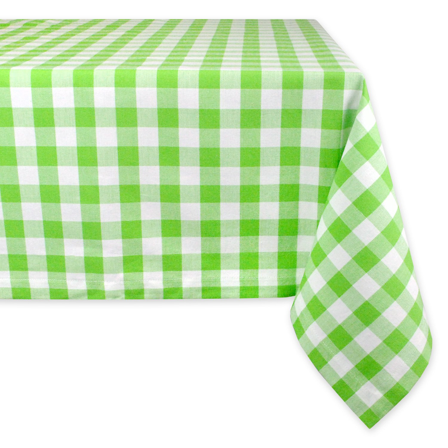 Seats 8 to 10 People 60 x 104 CAMZ36878 Summer /& Picnic Tablecloth Machine Washable Aqua /& White Check 60 x 104 DII 100/% Cotton Dinner