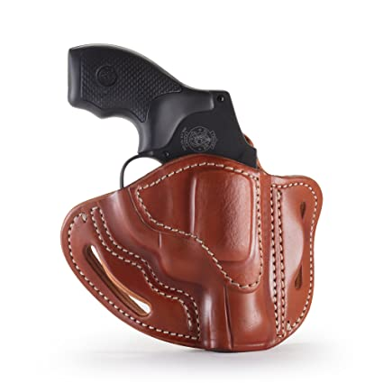 1791 GUNLEATHER J-Frame Revolver Holster - OWB CCW Holster - Right Handed  Leather Gun Holster for Belts - Fits All J-Frame Revolvers Including S&W  and
