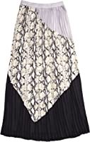 Bar Iii Women's Printed Paneled Pleated Maxi Skirt
