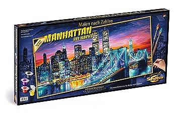 Schipper 609220369 609220369 Malen Nach Zahlen Manhattan Bei Nacht 40x80 Cm
