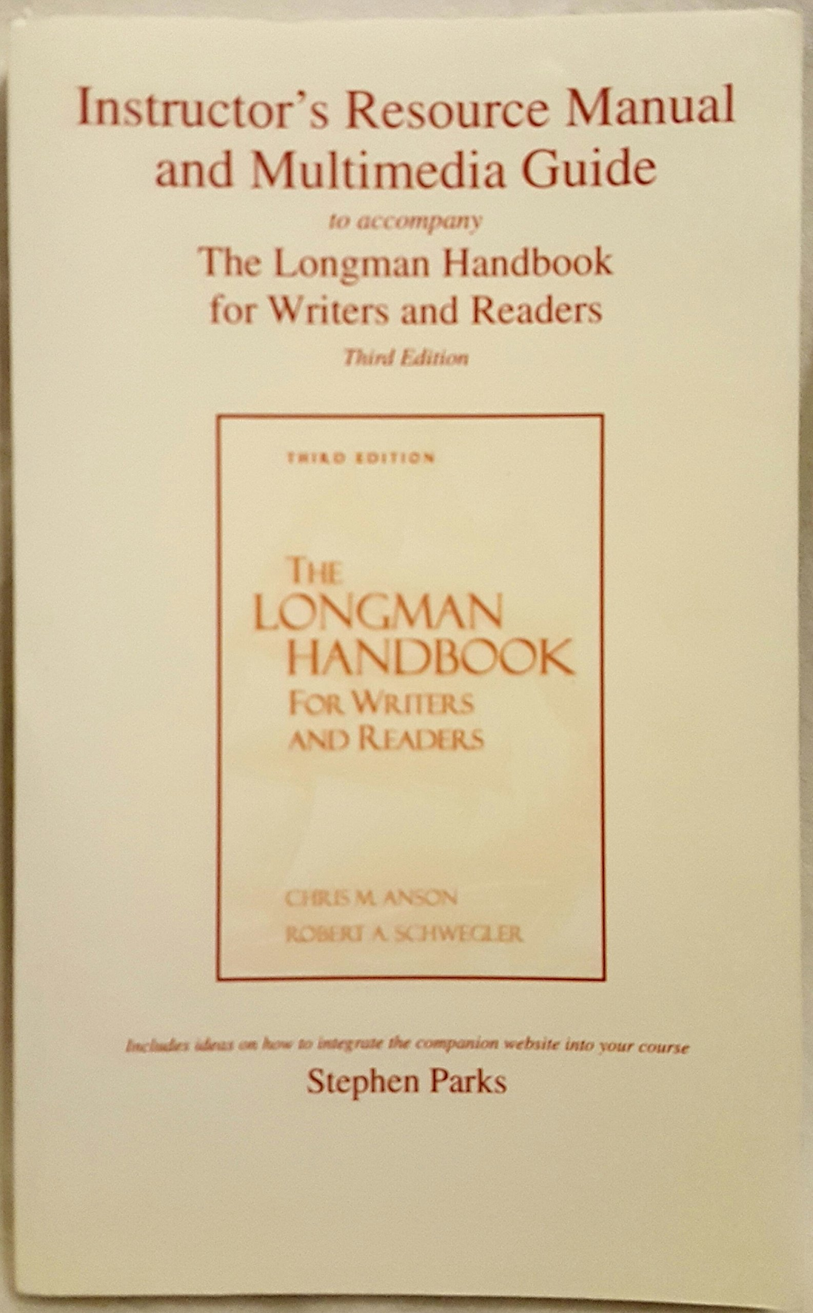 Download Instructor's Resource Manual and Multimedia Guide to Accompany the Longman Handbook for Writers and Readers Third Edition and the Longman Writer's Companion Second Edition pdf