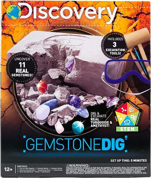 NUOBESTY 1 Set Gemstone Dig Kits Gem Excavation Kits Gems Digging Kit for Kids Mineralogy Geology Science Gift