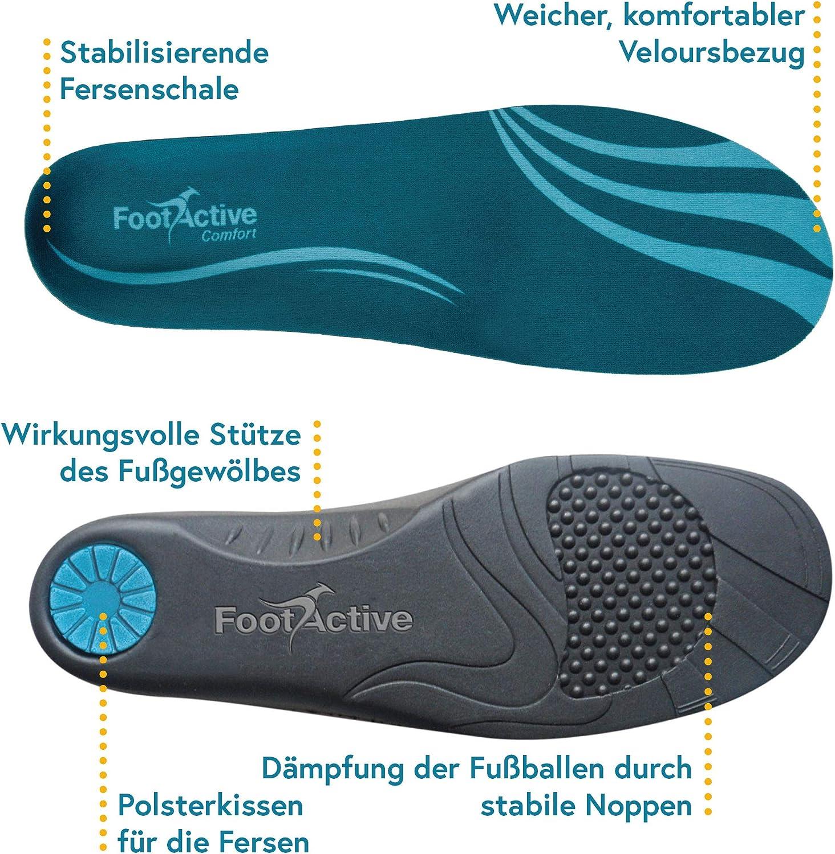 speziell bei Fersensporn FootActive COMFORT Premium Bein und R/ücken Federleichter Laufkomfort f/ür F/ü/ße