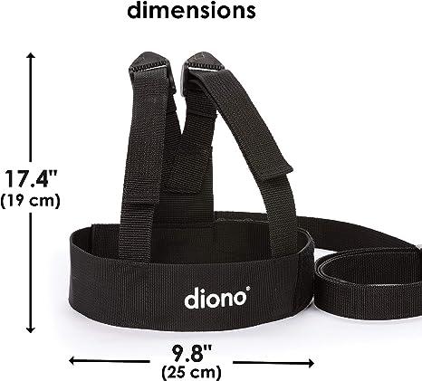 Diono - Correa para niños con arnés (cinta de 1,2 m), color negro ...