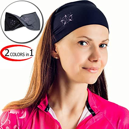 Amazon.com  Сhieflines Yoga Headband for Women - Sweatband for Sport ... 70a216ab3f9