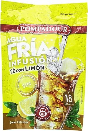 Pompadour Té Infusion Limón Frío - 18 bolsitas - [pack de 4 ...