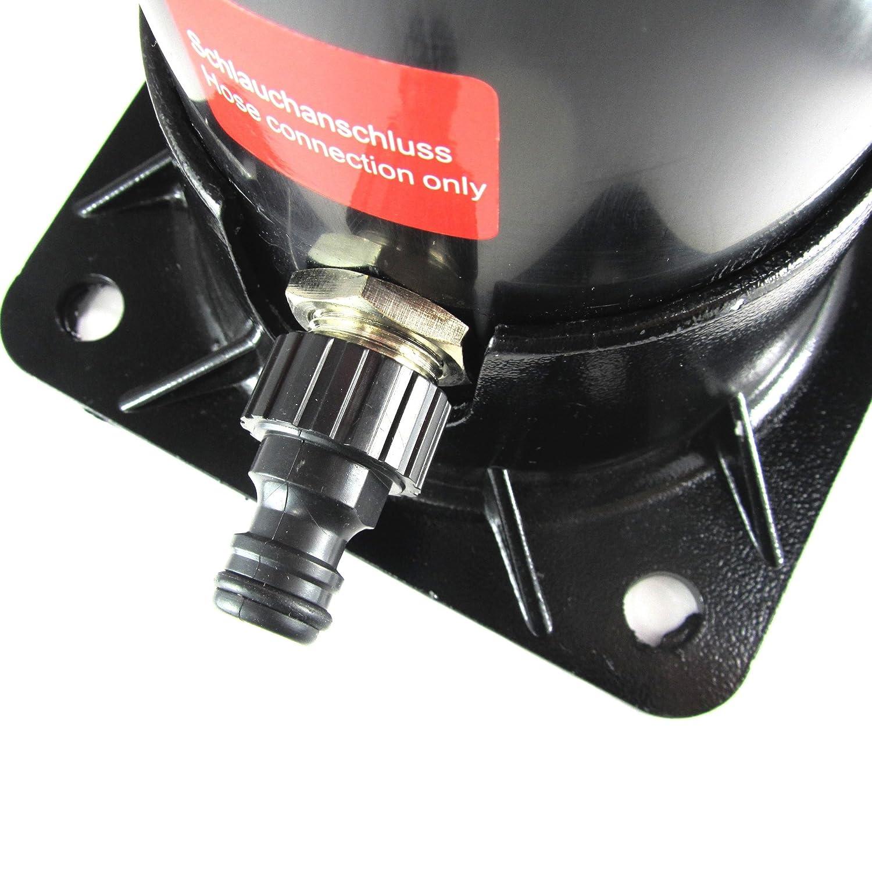 JOM Car Parts /& Car Hifi GmbH JOM Solardusche schwarz mit Einhebelmischbatterie und Regenduschkopf eckig 20 Liter 2 meter hoch mit zus/ätzlichem Wasserhahn Gartendusche