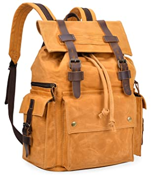 Amazon.com  ALTOSY Water Resistant Canvas Backpack Casual Laptop Rucksack  5358 (khaki)  ALTOSY Co. fcdee78e4e043