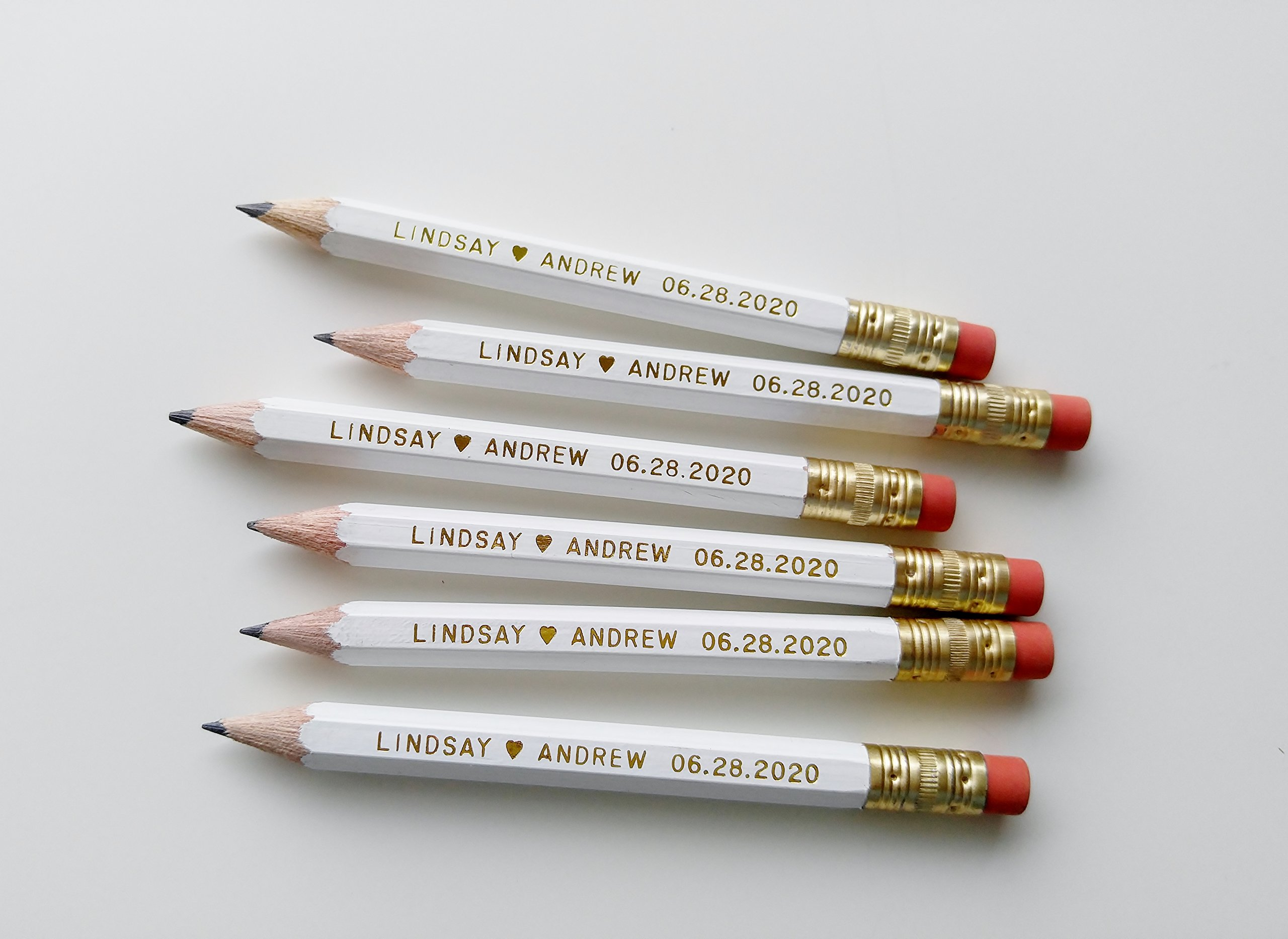 Save The Date Pencil Us In SET OF 48 Personalized Wedding Save the Date Pencils Custom Wedding Pencils Many Color Options