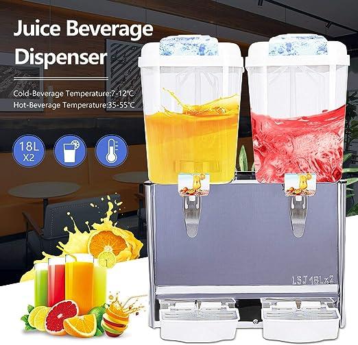 Commercial 3 Tank 680W Cold Drink Jet Spray Refrigerate Juice Beverage Dispenser