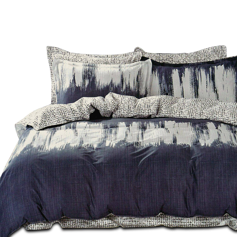 Essina Full/Queen Duvet Cover Set 3pc Rosetta Collection, 100% Cotton 620 thread count, Reversible Duvet Cover, Pillow Sham, Wheatgrass