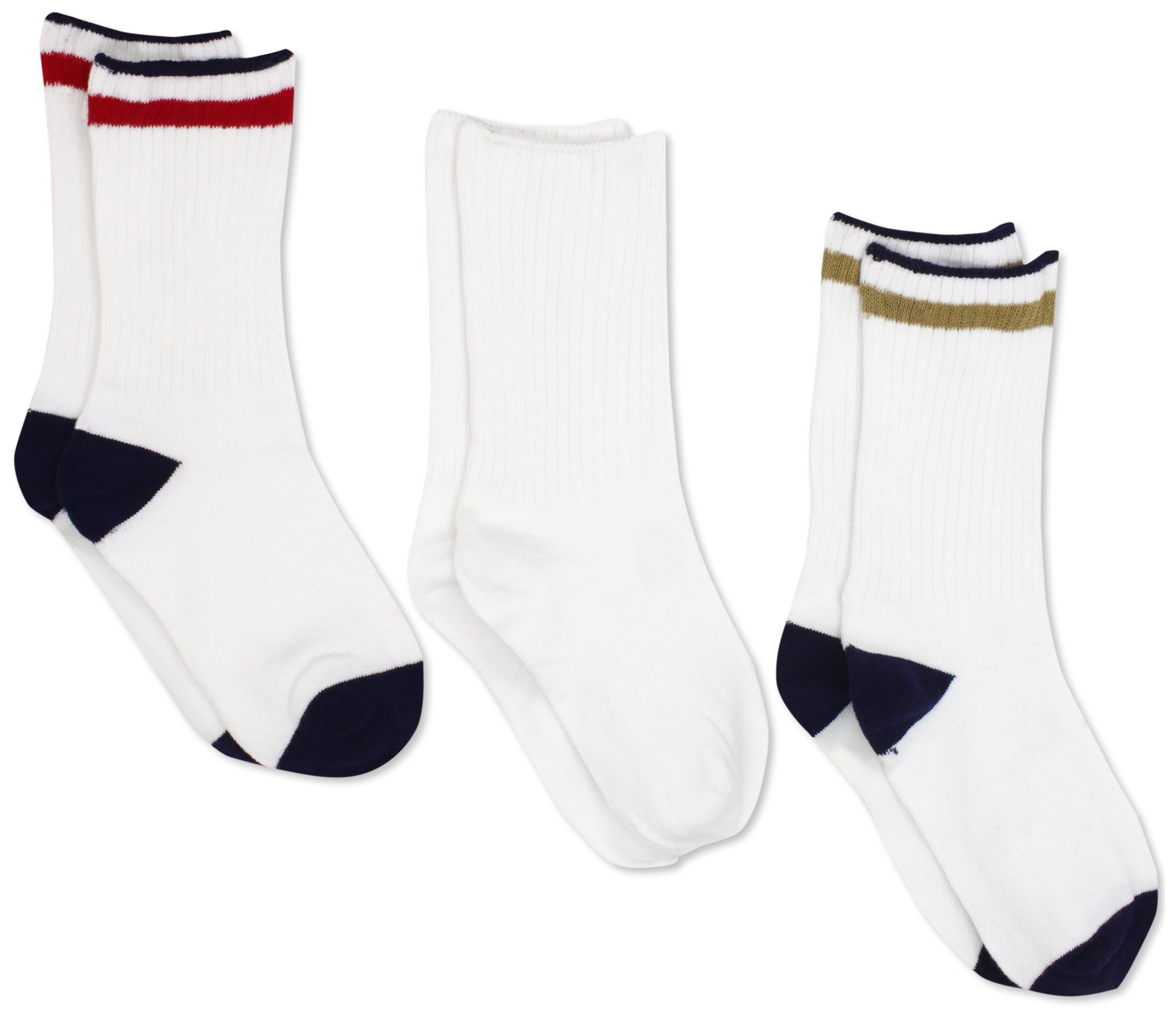 Jefferies Socks Little Boys' 6-11 Seamless Casual Crew (Pack of 3), Assorted/A, X-Small