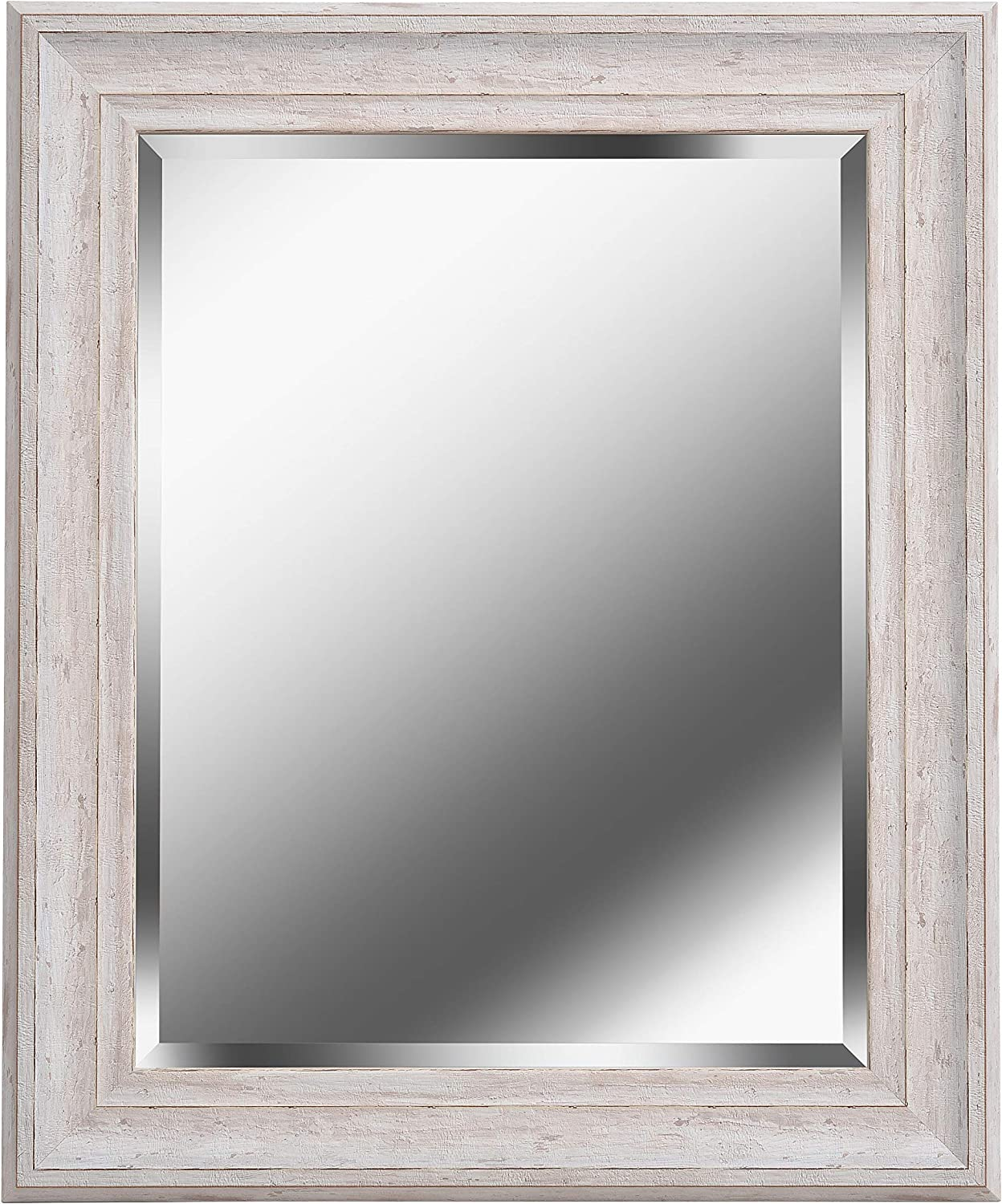 Kenroy Home 60352 Warren Home Décor, Wall 35 x 29 Inch, Distressed White Wood Finish