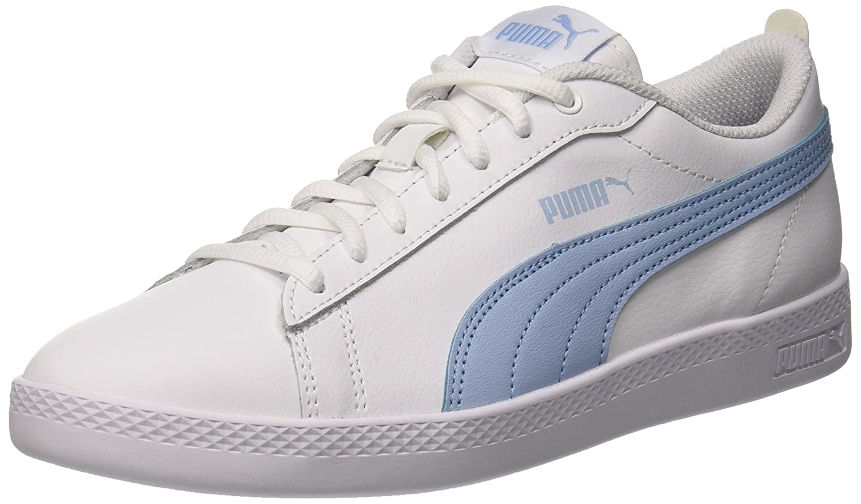 Puma Smash Wns V2 L, Zapatillas para Mujer 37 EU|Blanco (Puma White-cerulean 08)