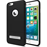 Seidio SURFACE with Metal Kickstand Case for iPhone 6 Plus/6s Plus [Slim Case] - Non-Retail Packaging - Black/Black