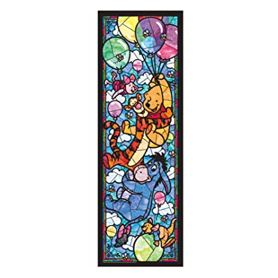 456-piece jigsaw puzzle Stained Art Winnie the Pooh stained glass tightly series (18.5x55.5cm): Juguetes y juegos