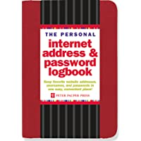 The Personal Internet Address & Password Logbook (Red)