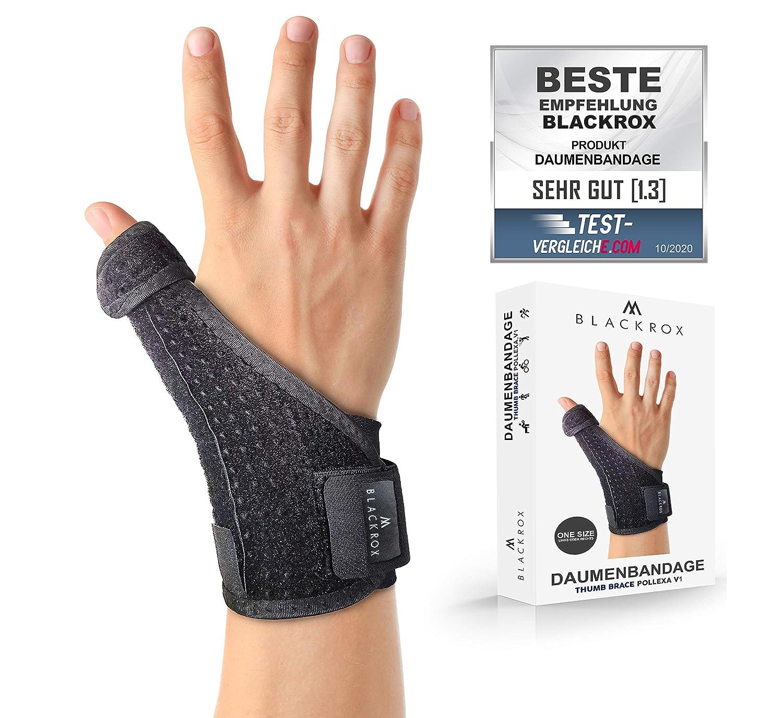 BLACKROX POLLEXA V1 - Vendaje para pulgar (para mano derecha e izquierda), color negro