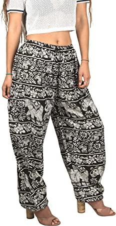 Tribe Azure Women Elephant Pants Harem Yoga Casual Summer Beach Boho Bohemian Hippie Gypsy Pajama Genie