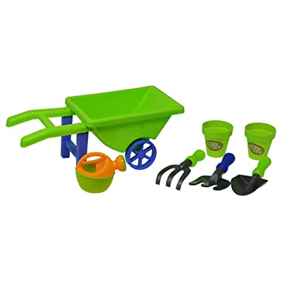 Hoopla Toys 7 Piece Garden Cart Kids Toy Playset Learning and Development Toys: Toys & Games