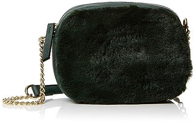 368a04c809 New Look Womens Faux Fur Front Cross-Body Bag Green (Dark Green ...
