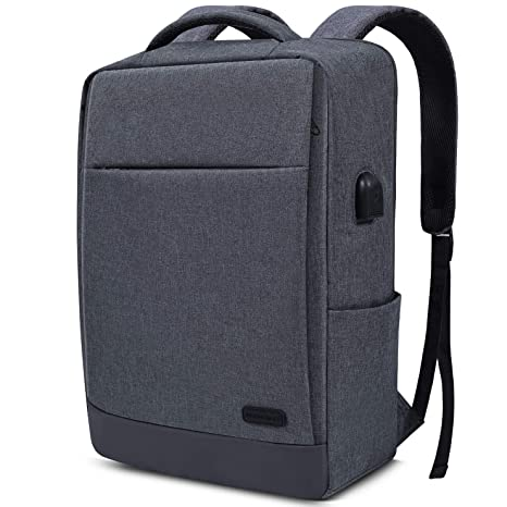 aba72186ed98 Laptop Backpack with USB Charging Port Travel Backpack Bookbag Compatible  15-15.6 Inch MacBook, Acer Aspire, ASUS, Toshiba, Dell, Lenovo, MSI Laptops  ...