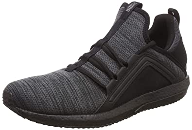 b10a54e6c9d664 Puma Men s Mega NRGY Heather Knit Iron Gate Bl Black Running Shoes-10 UK
