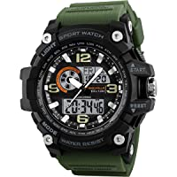 Timewear Military Series Analogue Digital Black Dial Watch for Men & Boys - 1283 Green