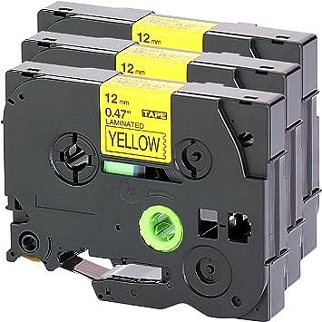 Schriftband kompatibel für Brother MK-631 MK631 MK 631 Schwarz auf Gelb 12mm 8m