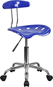 Flash Furniture Vibrant Nautical Blue and Chrome Swivel Task Office Chair with Tractor Seat