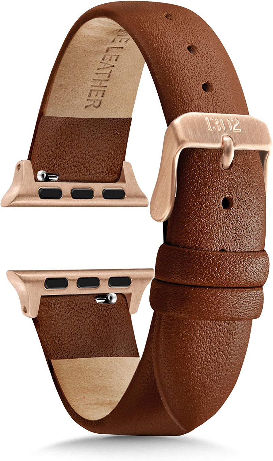 Compatible with Apple Watch Bands 38mm Women - Apple Watch Bands Women - Apple Watch Band 40mm Series 4 - Apple Watch Band Leather - Leather Apple Watch Band - Rose Gold Apple Watch Band - Brown