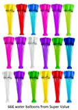Super Value Water Balloons - 6 Sets with total 600 Water Balloons – Be ready for Water Bombs Fight – Keep everything Easy for Kids -- Best Value to Buy