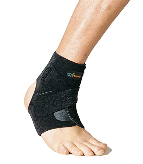 53012105e6 Amazon.com: Jasper Ankle Brace Sleeve Open Heel Support for Strains,  Sprains, Arthritis, Injury Pain Relief, with Stays Adjustable Breathable  Compression ...