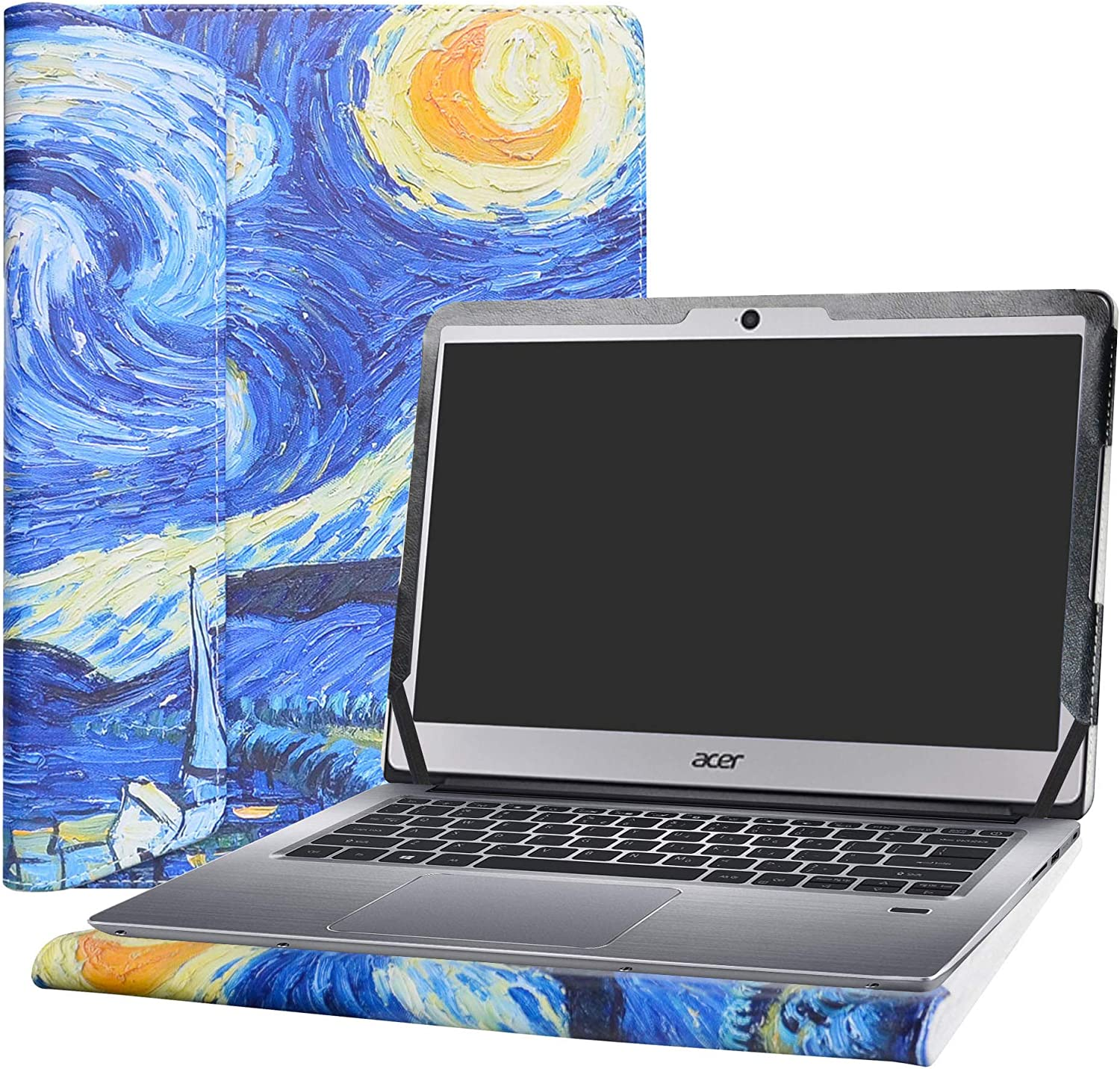 "Alapmk Protective Case Cover for 14"" ACER Swift 3 14 SF314-51 SF314-52 SF314-52G SF314-53G Series Laptop(Warning:Not fit Swift 3 14 SF314-54 SF314-54G Series),Starry Night"