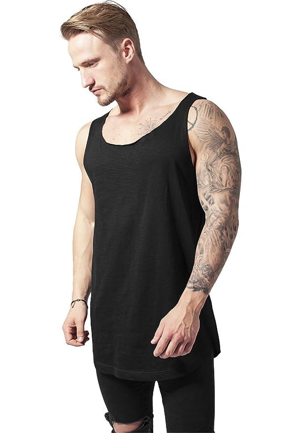1a42632d9e8297 Urban Classics TB964 Long Shaped Open Edge Loose Tank Top Regular Fit Men  Streetwear  Amazon.co.uk  Sports   Outdoors