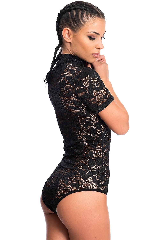 Evoni - Body - Femme Transparent Transparent - Noir - X-Large  Amazon.fr   Vêtements et accessoires 24a91a08f1e