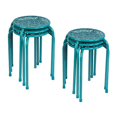 Atlantic Daisy Stackable Stool 6pack Capri Breeze: Kitchen & Dining