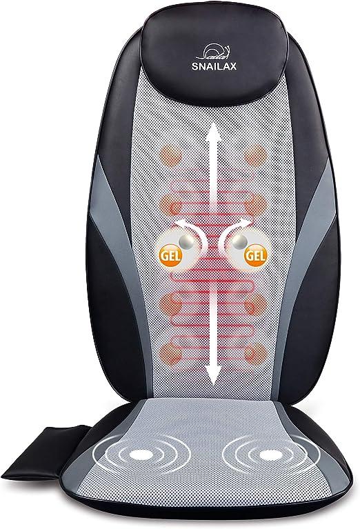 SNAILAX Shiatsu Back Massager with Heat - Advanced Massage Cushion