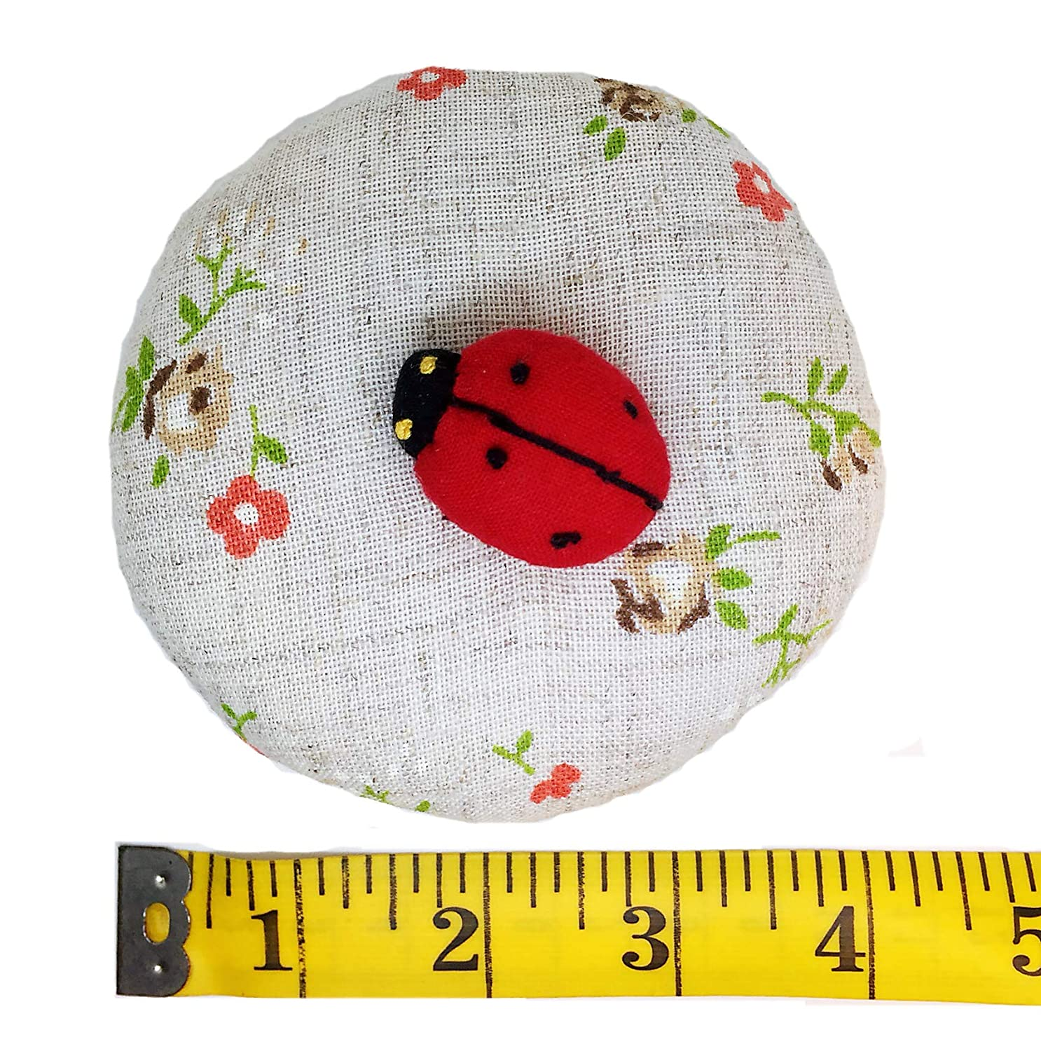 PeavyTailor Emery Pin Cushion 10oz Extra Large Keep Needles Clean and Sharp Needle Storage Organizer - Ladybug Red peavtailor.com