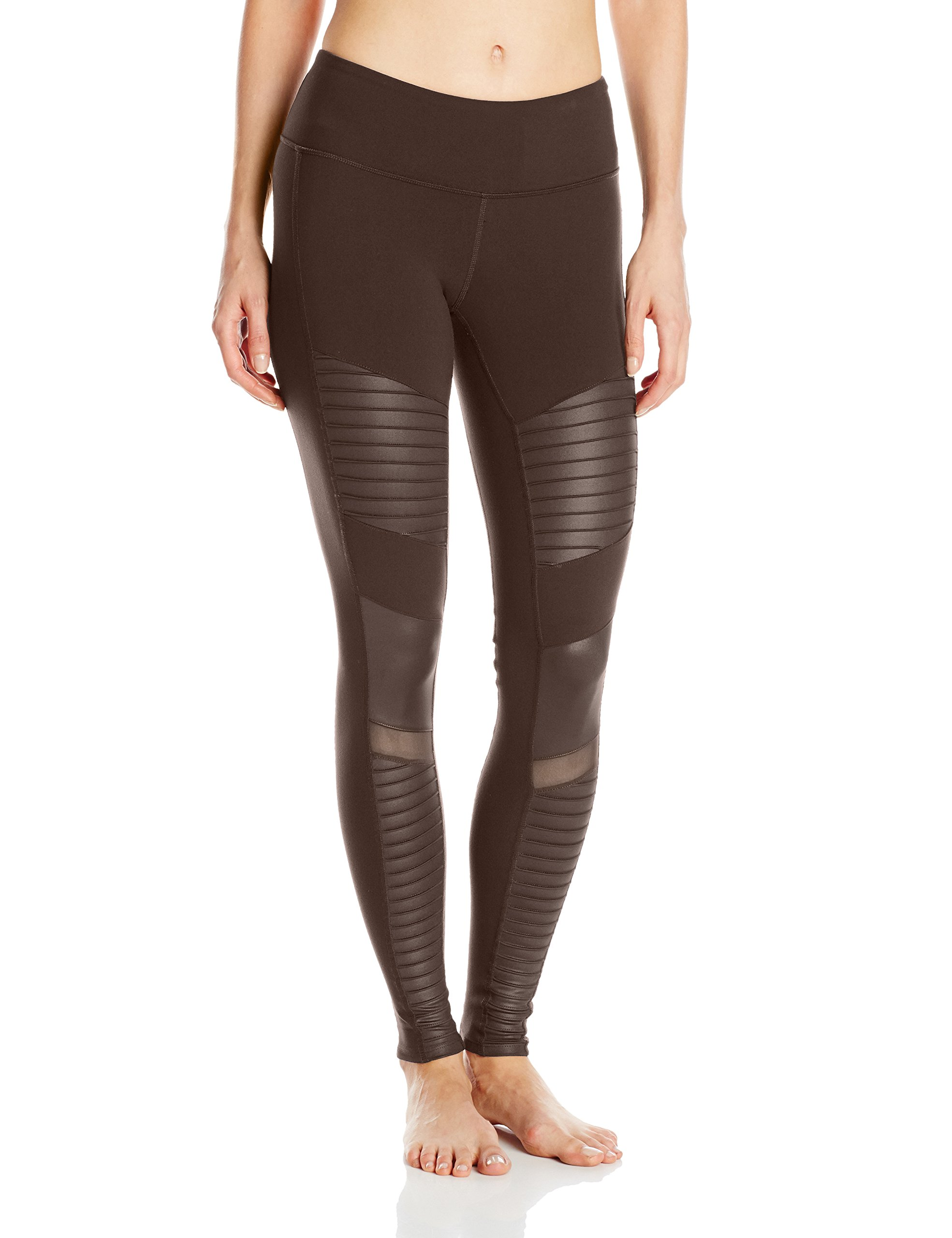 Alo Yoga Women's Moto Legging, Mink/Mink Glossy, Small