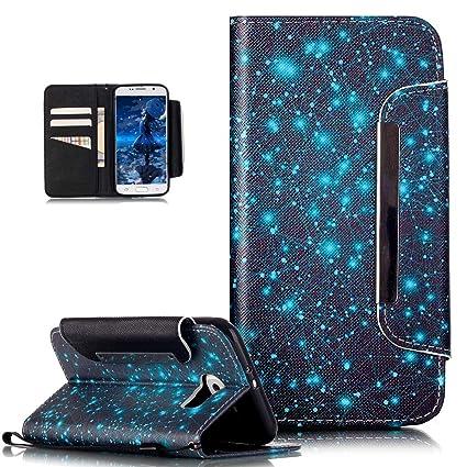 Kompatibel mit Galaxy S6 Hülle,ikasus Bunte Gemalt Malerei Muster PU Lederhülle Schutzhülle Handyhülle Taschen Schalen Handy