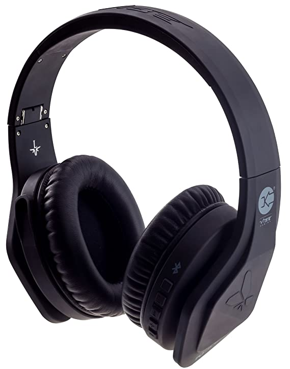 Amazon.com: Vibe FLI Over Ear Wireless Bluetooth Headphones with In-Line Microphone - Black: Home Audio & Theater