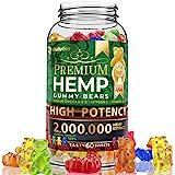 Wellution Hemp Gummies 2,000,000 XXL high Potency - Fruity Gummy Bear with Hemp Oil, Natural Hemp Candy Supplements for Soren