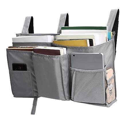 Amazon.com: Corodo Grey Bedside Storage Caddy Hanging Organizer Bag ...