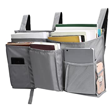 Amazon Com Corodo Grey Bedside Storage Caddy Hanging Organizer Bag