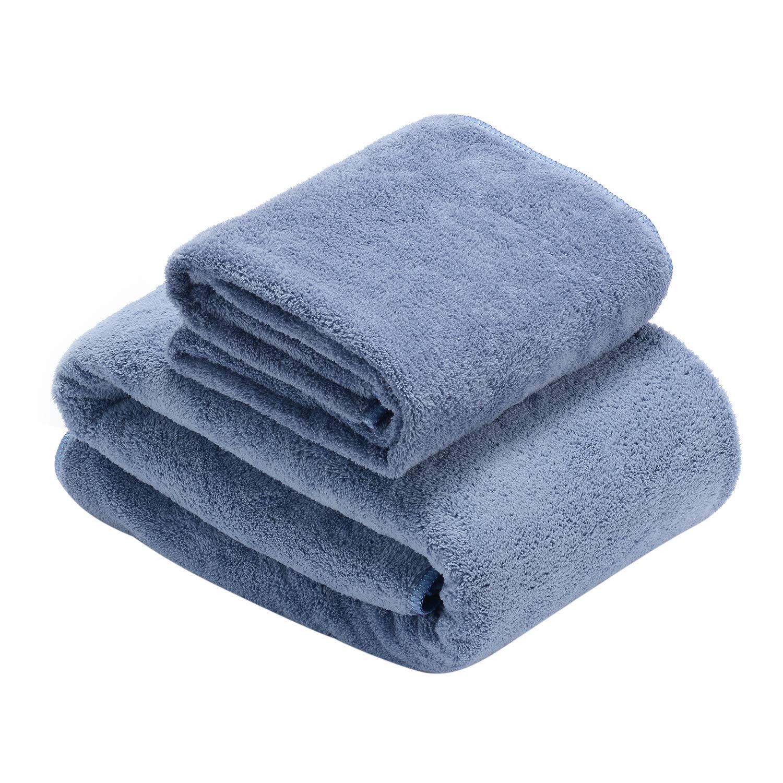 Toallas de Baño, súper suave Juego de Toallas, altamente absorbente Toallas de Manos Microfibra para Ducha, Nadar, Viajes, Cuarto de Baño, 1 Toalla de Baño ...