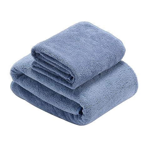 Toallas de Baño, súper suave Juego de Toallas, altamente absorbente Toallas de Manos Microfibra