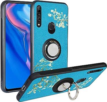 Funda para Huawei P Smart Z, Fashion Design [Antigolpes] con 360 Anillo iman Soporte, Resistente a los arañazos TPU Funda Protectora Case Cover para Huawei Y9 Prime 2019,Flower: Amazon.es: Electrónica